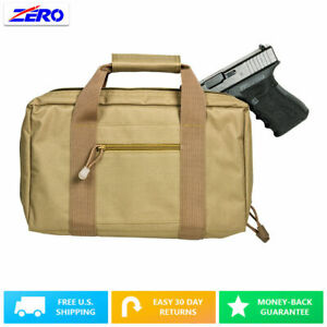 Tan-Police-Discreet-Double-Padded-Gun-Handgun-Pistol-Magazine-Storage-Case