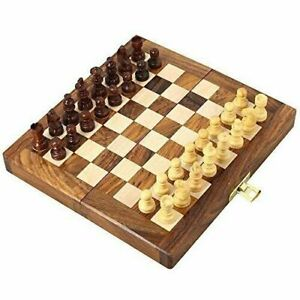 18cms-Magnetic-Travel-Pocket-Chess-Set-Handmade-Folding-Game-Board-Portable-Gift