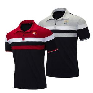 Fashion-Men-Shark-Polo-Shirt-Short-Sleeve-Embroidered-Striped-Cotton-T-Shirt-Top