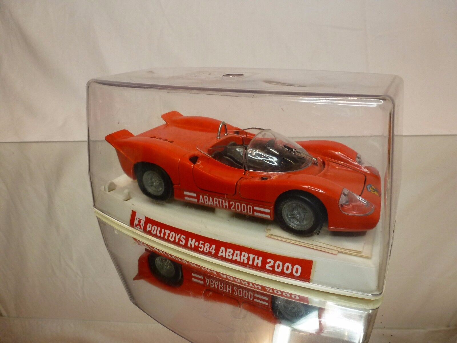 POLITOYS M584 ABARTH 2000 (FIAT) - rouge 1 25 - EXCELLENT IN BOX