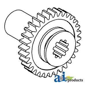 A-182090M1 For Massey Ferguson GEAR PTO DRIVEN 20 2135 30 TO35 135 150