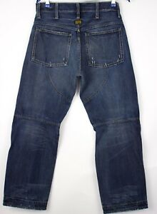 G-Star Brut Hommes Elwood Jeans Jambe Droite Taille W32 L32 AOZ1013