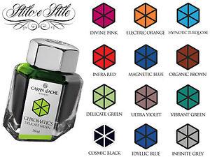 Caran-d-039-Ache-Chromatics-Ink-Inchiostro-Penne-Stilografiche-50-ml-Bottled-Ink