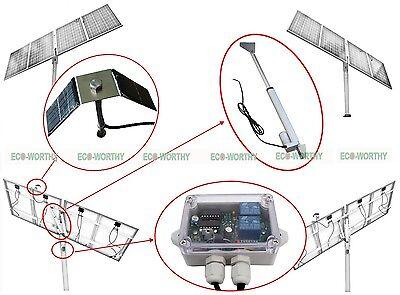 Single axis solar tracker DIY parts 18'' linear actuator & sun track controller