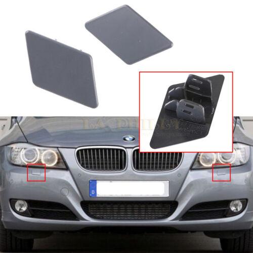 Pair LH RH Bumper Headlight Washer Cover Lid For BMW E90 E91 328i 323i 335i
