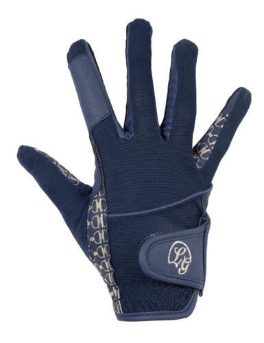 Medium Lauria Garrelli Santa Rosa Navy /& Gold Quality Riding Gloves