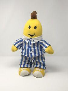 """16"""" Bananas In Pajamas B1 Singing Plush 1995 Vintage Tomy - Plays BiP Theme Song"""