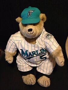 "Cooperstown Bears 1993 Florida Marlins Inaugural Year Teddy Bear #d 357/2500 20"" Bears"