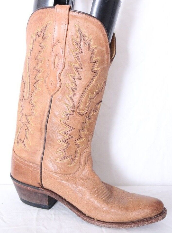 Old West Honey Brown Leather Snip Toe 12  Western Fashion Boot Women's US 5.5