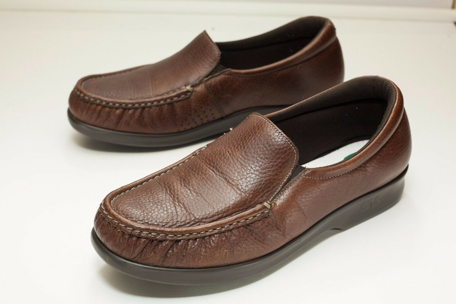 SAS 10 Brown Loafers Women's - Missing Insoles