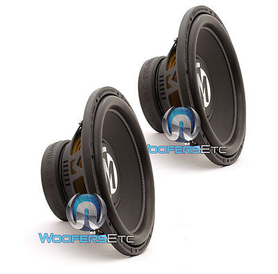 "(2) MEMPHIS BR15D4 SUBS 15"" 800W DUAL 4-OHM CAR SUBWOOFERS BASS SPEAKERS NEW"