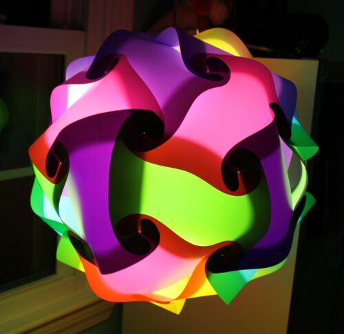 30Pc MED Creative Modern IQ Puzzle Jigsaw Light Lamp Shade Ceiling Lampshade USA