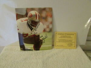 XX DANA STUBBLEFIELD SAN FRANCISCO 49ERS 8X10 SPORTS ACTION PHOTO