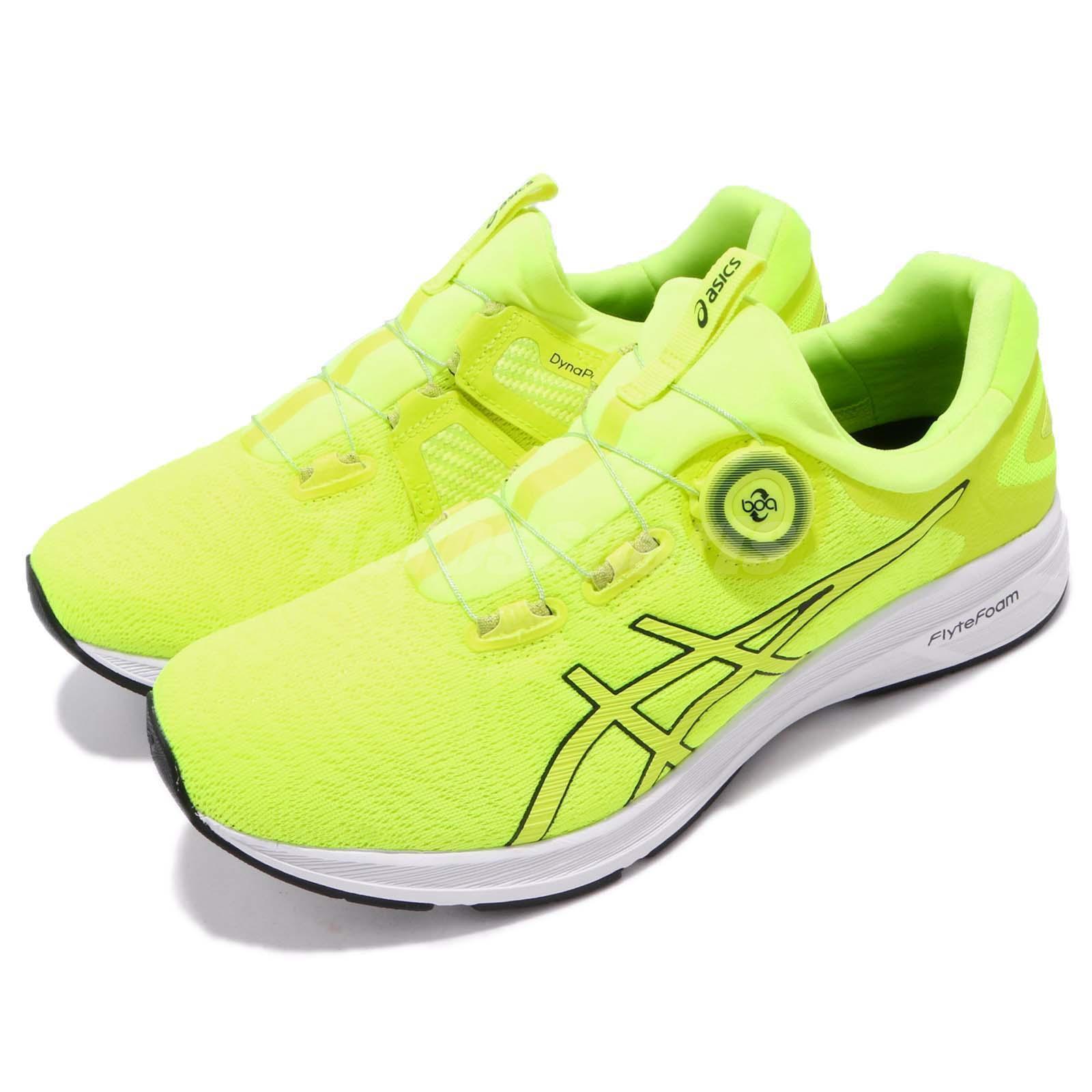 Asics Dynamis Safety Jaune Blanc Men Running Chaussures Baskets Trainer T7D1N-0701
