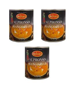 OFFERTA: 3 x 850g Alphonso Mango Pulp mangopürree mangomus Mango purè dessert