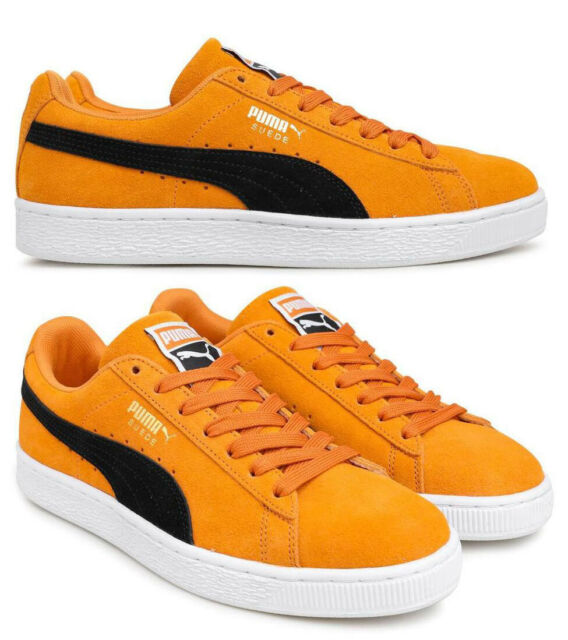 New PUMA Suede Classic Casual Shoes Mens orange black