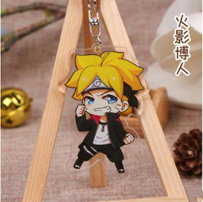 Naruto Keychains Acrylic Uchiha Sasuke Key Ring Anime Collection 6cm//2.36/'/' Gift