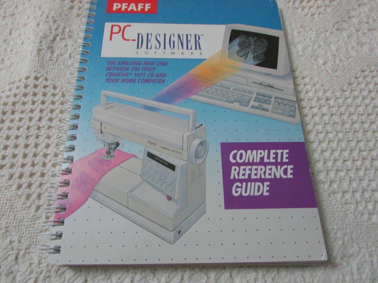 Pfaff 7550 1475 Pc Designer Software Original Manual Excellent Pre Own Condition Ebay