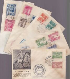 Philippines-1949-Tirad-Pass-Baguio-Conf-Lion-039-s-Convention-5-different-FDC