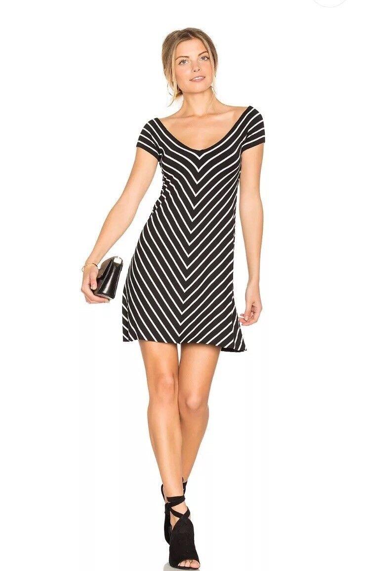 Bailey 44 Womens Endurance B W Reversible Striped Mini Casual Dress Size XS
