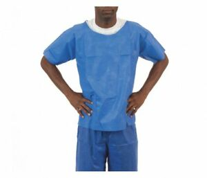 1e1a3259138 Image is loading Enviroguard-Soft-Scrubs-FS2065B-M-Blue-Disposable-Short-