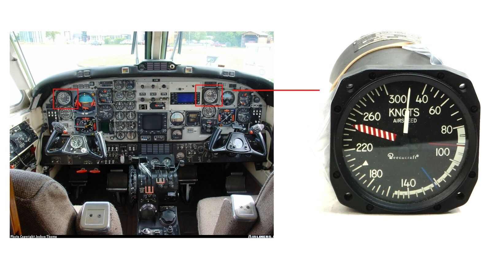 Beechcraft Airspeed Flow Indicator, Cessna T41D