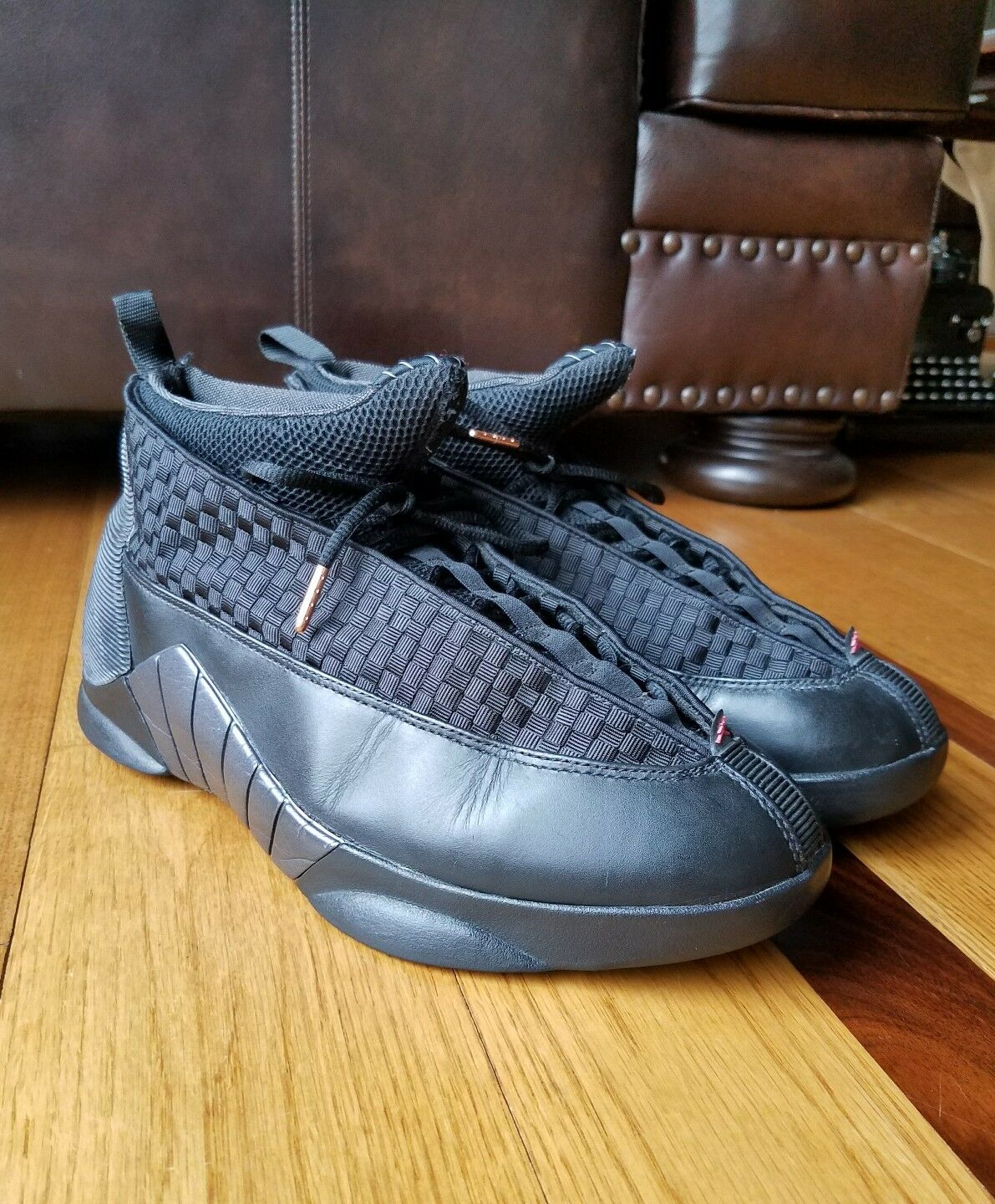 8711814a8ba5 Nike Air Jordan XV 15 Retro Stealth Black Varsity Red Red Red 317111-061  Size