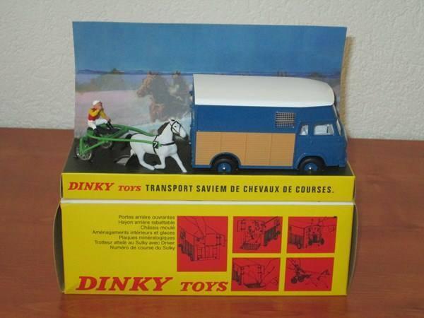 RARE DINKY TOYS SAVIEM RACE HORSE TRAILER MINT IN BOX SEALED