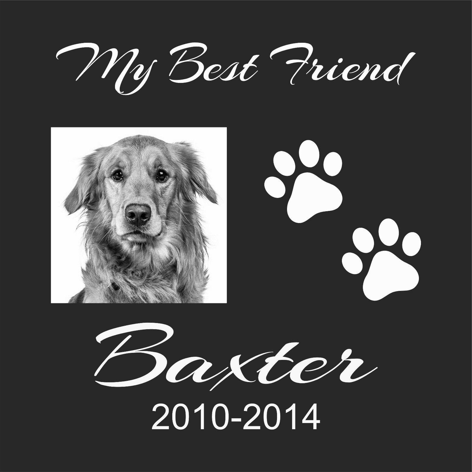 Personalized Pet Human grave marker Stone Memorial 12  x 12  Great Dane Mastiff