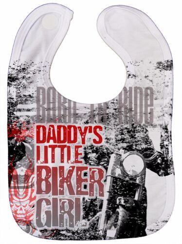 """Baby Biker Latz /"""" Daddy/'s Kleiner Mädchen Born To Ride /"""" Motorrad Son Anarchie"""