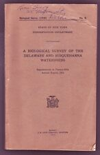 State Of NY Survey Of The Delaware & Susquehanna Watersheds Color Fish Plates