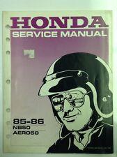 honda motorcycle service manual 1985-1986 NB50