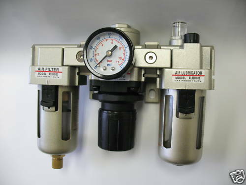 "1pc 1//4/""NPT Air Filter Regulator Lubricator Combo 2000L//min MettleAir AC3000-N02"