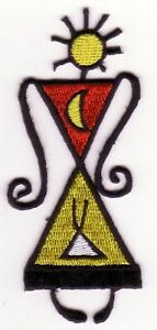 Abstract Tribal Woman Art Embroidery Patch