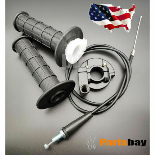 """Suit For 7//8/"""" Bar Throttle /& 36/"""" Cable Handle Bar Grip Set For Motorcycle"""