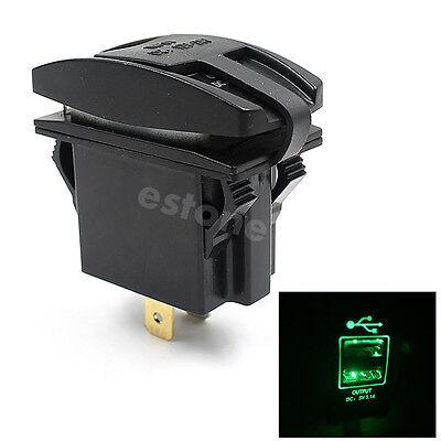 Hot Waterproof Motorcycle Car Boat Dual USB Power Charger 12-24V Port Socket
