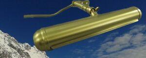 Bilderlampe-Messing-2-Fas-B-33cm-Vintage-Wand-Bilder-Deko-Unterschrank-Leuchter