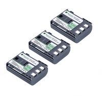3 Pcs NB-2LH NB-2L Li-ion Battery For Canon EOS 400D 350D G9 G7 Rebel XT XTi S50