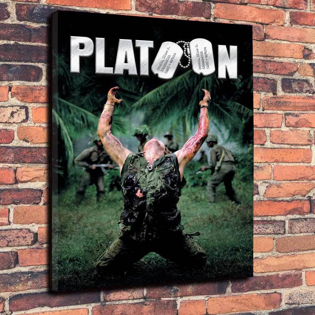 Peloton guerre du Vietnam Film Imprimé Photo sur toile plusieurs Profond tailles 30 mm Profond plusieurs Cadre 777026