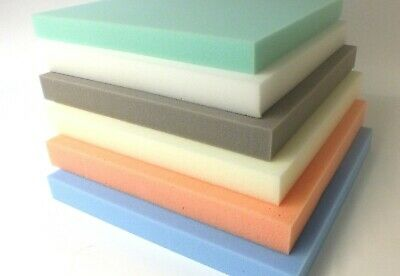 CUT TO SIZE SEAT REPLACEMENT FIRM BLUE UPHOLSTERY FOAM SHEET SOFA CUSHION