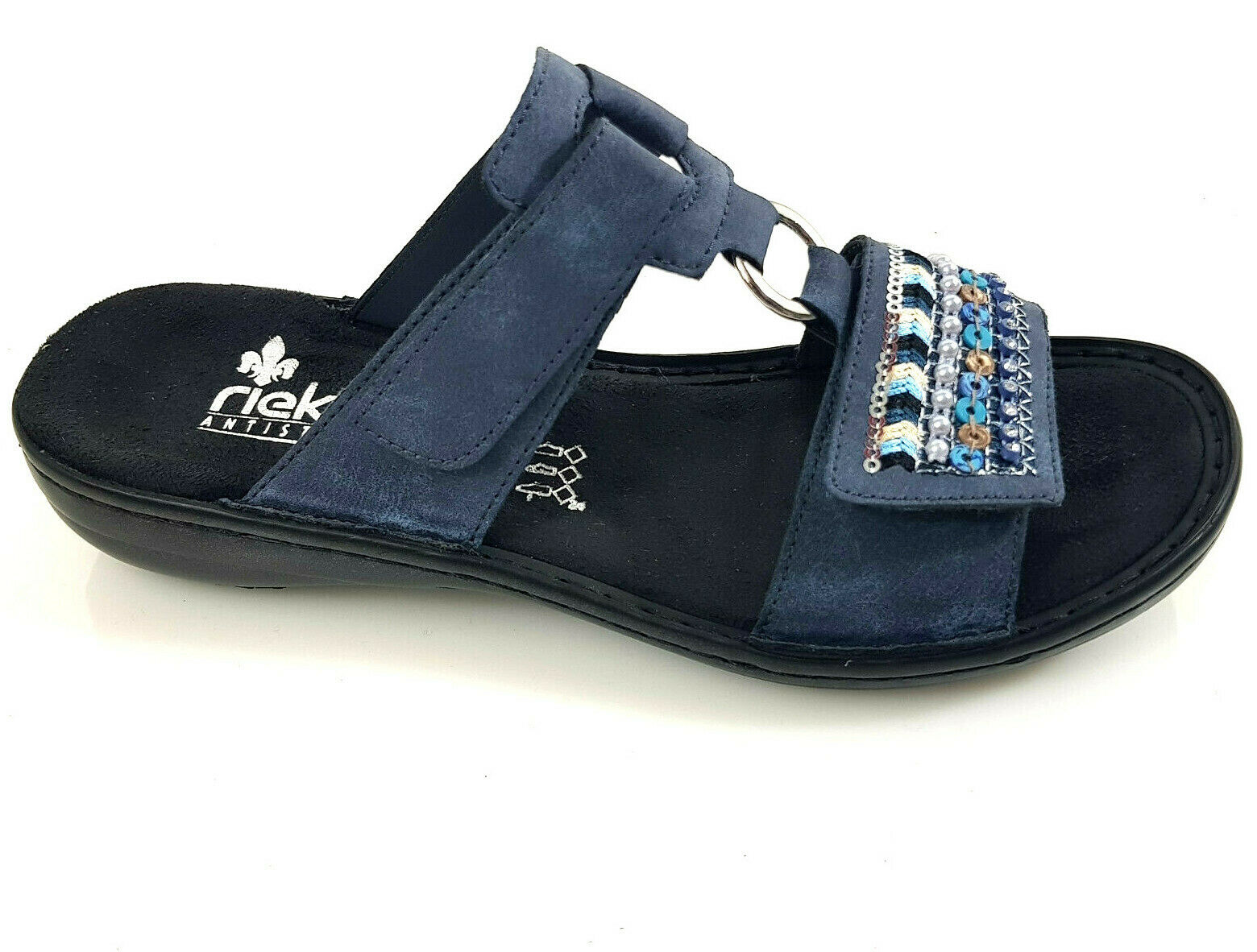 Rieker señora sandalia es casa sandalias zapatos de nuevo 608p6 talla 37-42