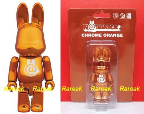 Medicom 2015 Be@rbrick Rabbit 100/% Rabbrick Chrome Orange Bearbrick R@bbrick 1pc