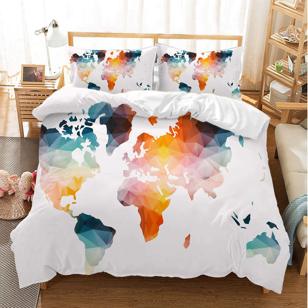 Farbeful Plate 3D Quilt Duvet Doona Cover Set Single Double Queen King Print