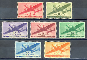US-Stamp-L249-Scott-C25-C31-Mint-HR-OG-Nice-Air-Mail-Set