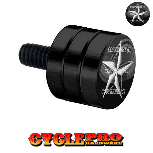 Double Grooved Black Billet Fender Seat Bolt Harley NAUTICAL STAR 103