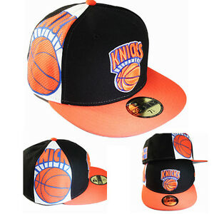9873626a839f8 New Era New York Knicks 5950 Black Fitted Hat Classic Logo on Side ...