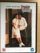 Al Pacino Michelle Pfeiffer FRANKIE AND JOHNNY ~ 1991 Classic Romcom UK DVD