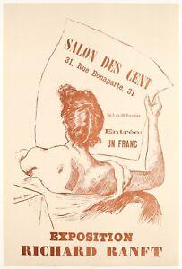 Affiche-Originale-Richard-Ranft-Salon-des-Cent-La-Plume-Avant-lettre-1894