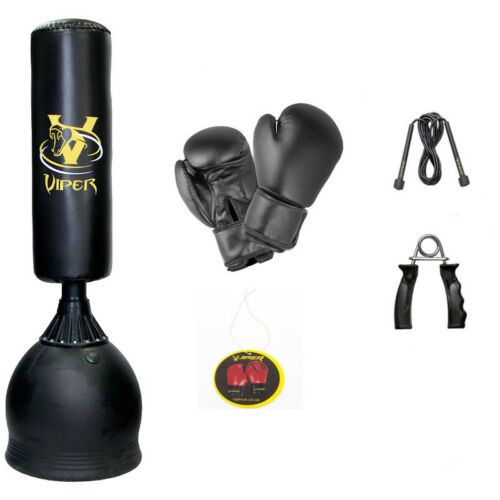 Boxing Free Standing Punch Bag Set Gloves Skipping Rope Martial Arts Kick 6ft