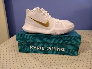 info for 6bf99 558b0 Details about Nike Kyrie Irving 3 III Finals PE White Gold NBA Basketball  Shoes Sneakers Kicks